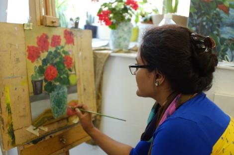 Beginner's art class London