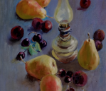 Still life – Pears and plums