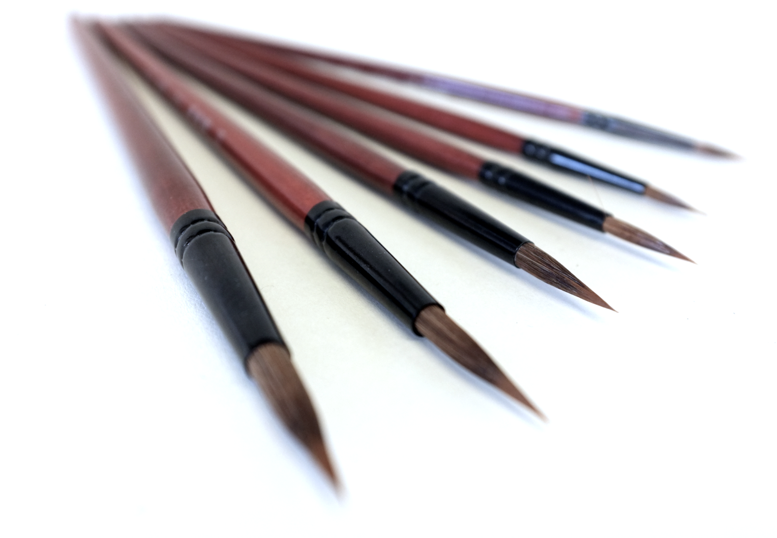 Sable Round Brushes for Watercolour, Acrylic and Chinese painting ...