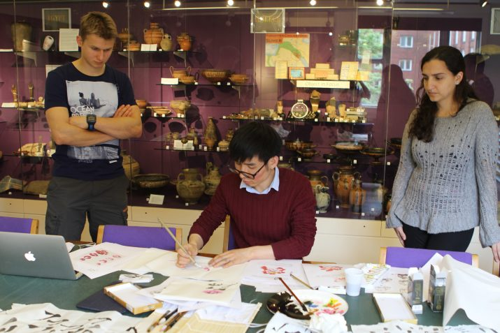 Calligraphy and Chinese painting workshop at Birminham University
