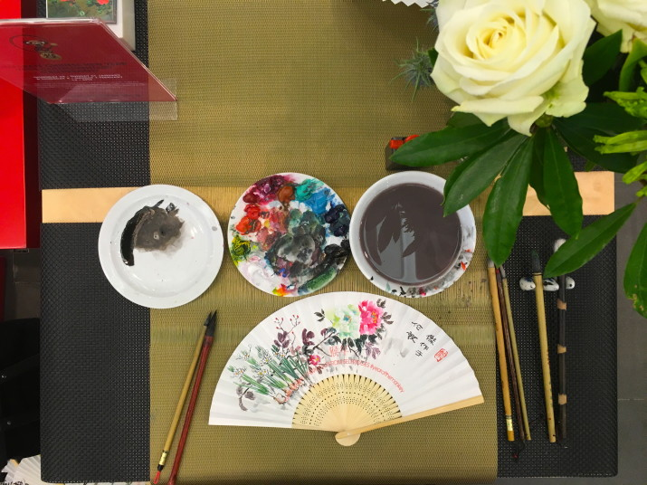 Selfridges Chinese New Year Event 2016 Chinese painting and Calligraphy artist Yinjie Sun London