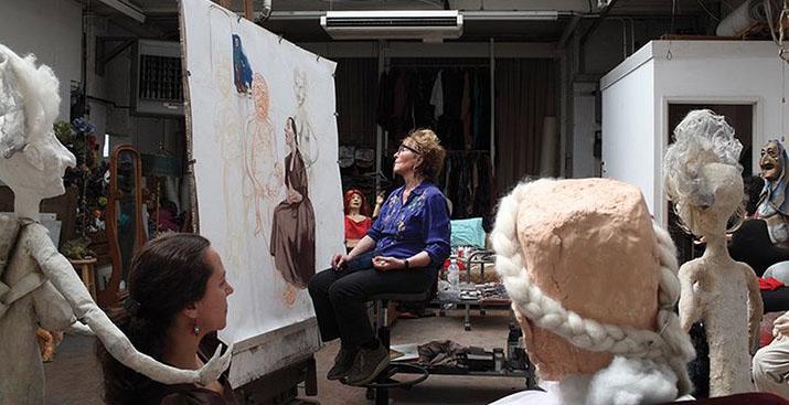 London artist's studio
