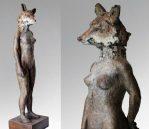 Kitsune. Bronze (lost wax process). 75 x 20 x 20cm. Edition of 12   £4,750 VAT inc.