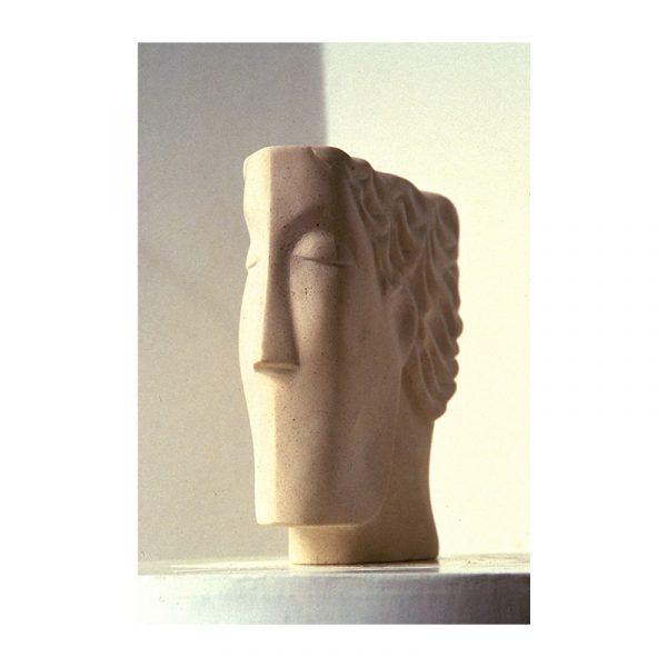 Sculptor – Glynis Owen – Thinking Head, 2015- london sculpture