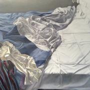 Drawn Threads, oil on linen, 106 x 120cm