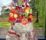 A Fruitful Homage to the Baroque, oil on linen, 147 x 122cm