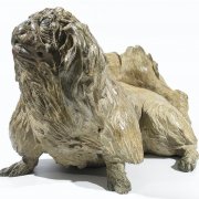 Sitting Peke. Cast at Pangolin Editions, edition: one only. 29 x 48 x 33cm  £3,500 VAT ex.