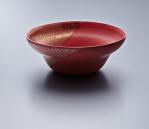 Soup Bowl - Red Body/Gold lustre. Polychrome enamelled porcelain. 16 x 6.5 cm £204 VAT inc.