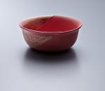 Small Bowl - Red Body/Gold lustre. Polychrome enamelled porcelain. 13.5 x 5.5 cm £168 VAT inc.