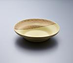 Pasta Plate - Yellow Body/Platinum lustre. Polychrome enamelled porcelain. 24 x 5.5 cm £240 VAT inc.