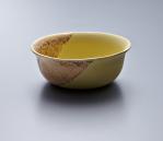 Small Bowl - Yellow Body/Gold lustre. Polychrome enamelled porcelain. 13.5 x 5.5 cm £168 VAT inc.