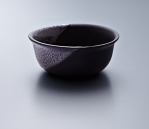 Small Bowl - Black Body/Platinum lustre. Polychrome enamelled porcelain. 13.5 x 5.5 cm £168 VAT inc.