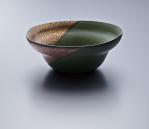 Soup Bowl - Green Body/Gold lustre. Polychrome enamelled porcelain. 16 x 6.5 cm £204 VAT inc.