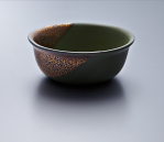 Small Bowl - Green Body/Gold lustre. Polychrome enamelled porcelain. 13.5 x 5.5 cm £168 VAT inc.