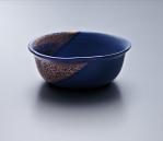 Small Bowl - Blue Body/Gold lustre. Polychrome enamelled porcelain. 13.5 x 5.5 cm £168 VAT inc.