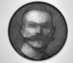 ART #58, Line Art (Sewing Thread), 42 x 64 cm (Diameter), 2016, £1960 (Exc. VAT)