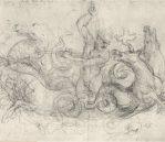 "Neptune with his Seahorses, c.1504-5. Black chalk on white paper, 9.3"" x 6.1"", £192 inc. VAT"