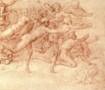 """Archers Shooting at a Herm, c.1530. Two tones of red chalk, 9.2"""" x 6.4"""", £192 inc. VAT"""
