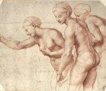 "The Three Graces, c.1517-1518. Red chalk, 9.2"" x 7.4"", £192 inc. VAT"