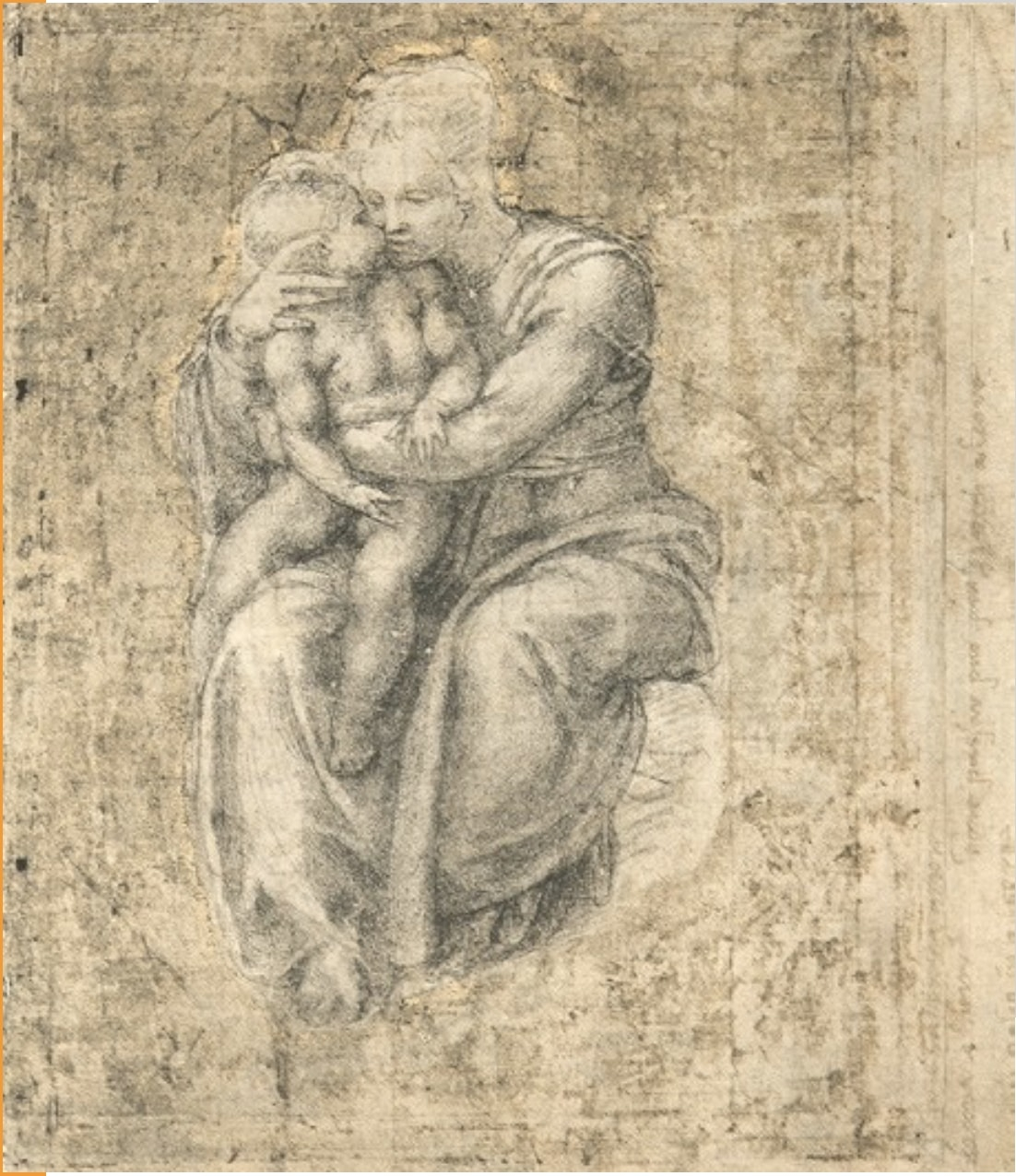 michelangelo drawing madonna and child 1525 - 750×866