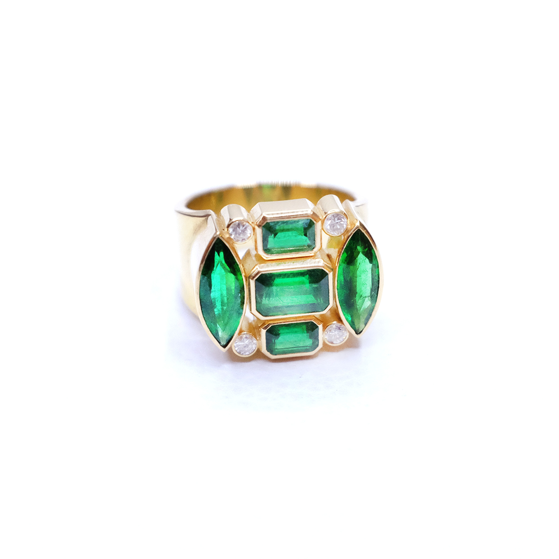 jewels and jewellery gold raw harper ring emerald gypsy bohemian emeral products rings festival indie