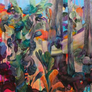 Eve's Yard, Acrylic and resin on canvas, resin finish, 120x150 cm, 2014. £11,760 VAT inc.