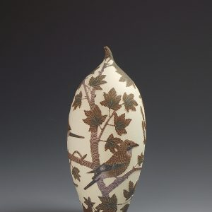 Jays & Maple Ceramic vessel, sgraffito decoration, 23cm high, £700 VAT ex.