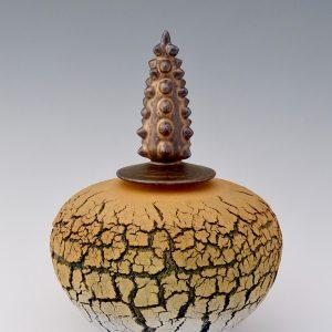 Ochre Pagoda Pot 26H x 22ø cm £550 ex. VAT