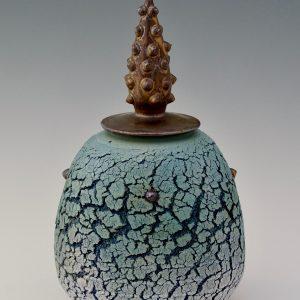 Blue Pagoda Pot 32H x 20ø cm £550 ex. VAT