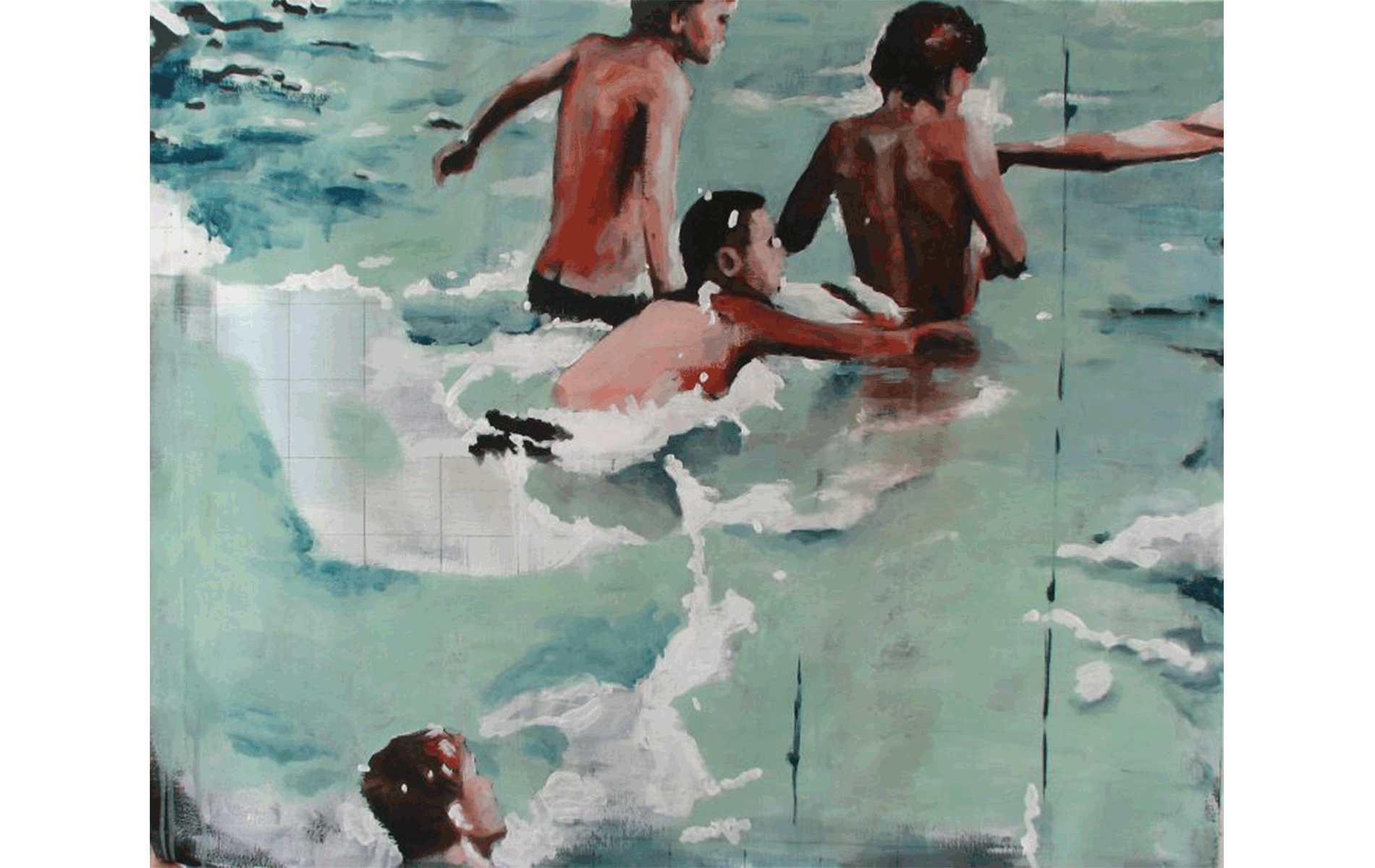 Painter Mike Hall I Acrylic French Painting I London Contemporary Art Gallery