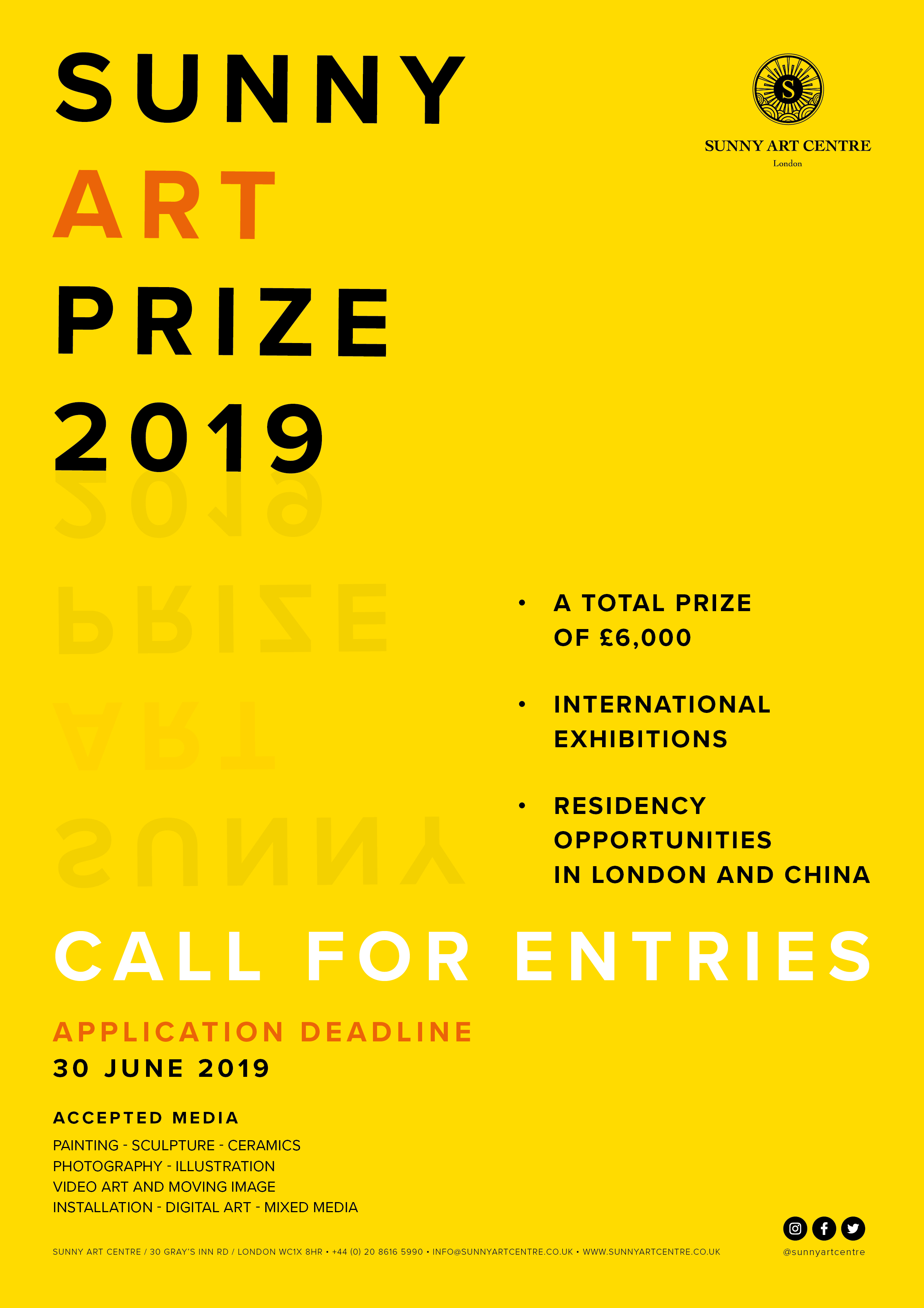 London Sunny Art Prize 2019 I Open Call for Artists I £6,000